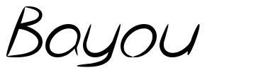 Bayou font