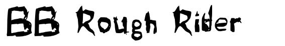 BB Rough Rider font