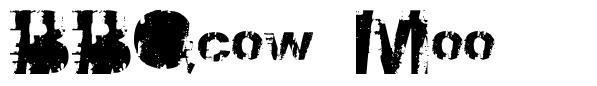 BBQcow Moo font