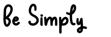 Be Simply font