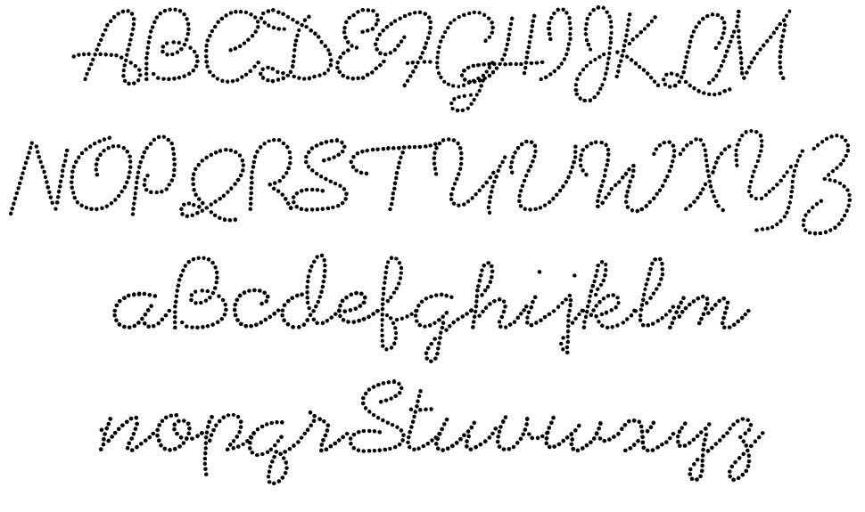 Beadwork шрифт