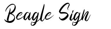 Beagle Sign czcionkę