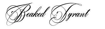 Beaked Tyrant 字形