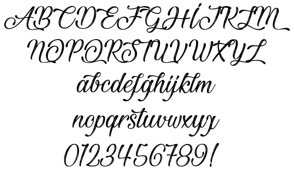 Beautiful and Openhearted font
