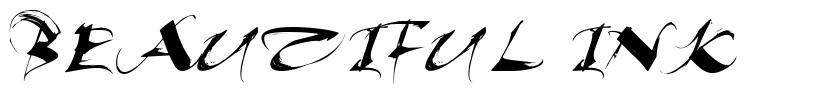 Beautiful Ink font