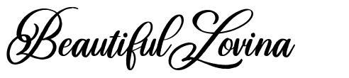 Beautiful Lovina フォント