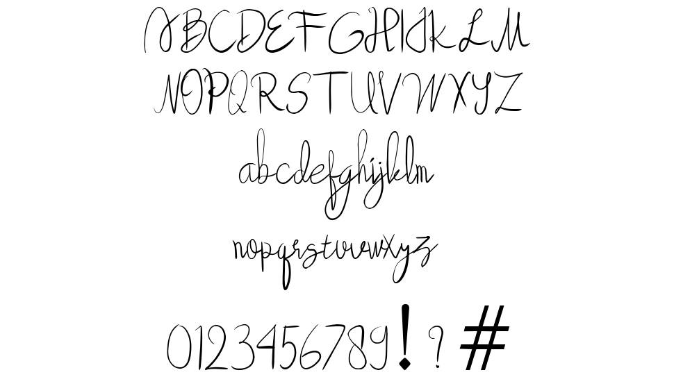 Beauty forest font