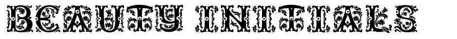 Beauty Initials font