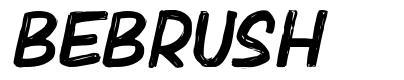 Bebrush font