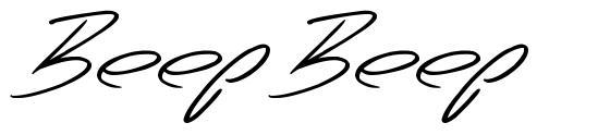 Beep Beep font