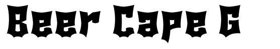 Beer Cape G font
