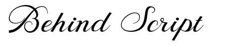 Behind Script font