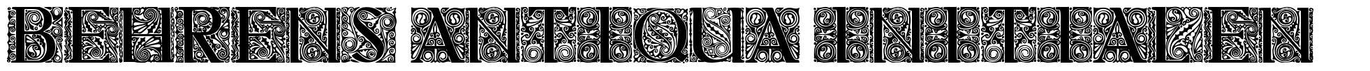 Behrens Antiqua Initialen font