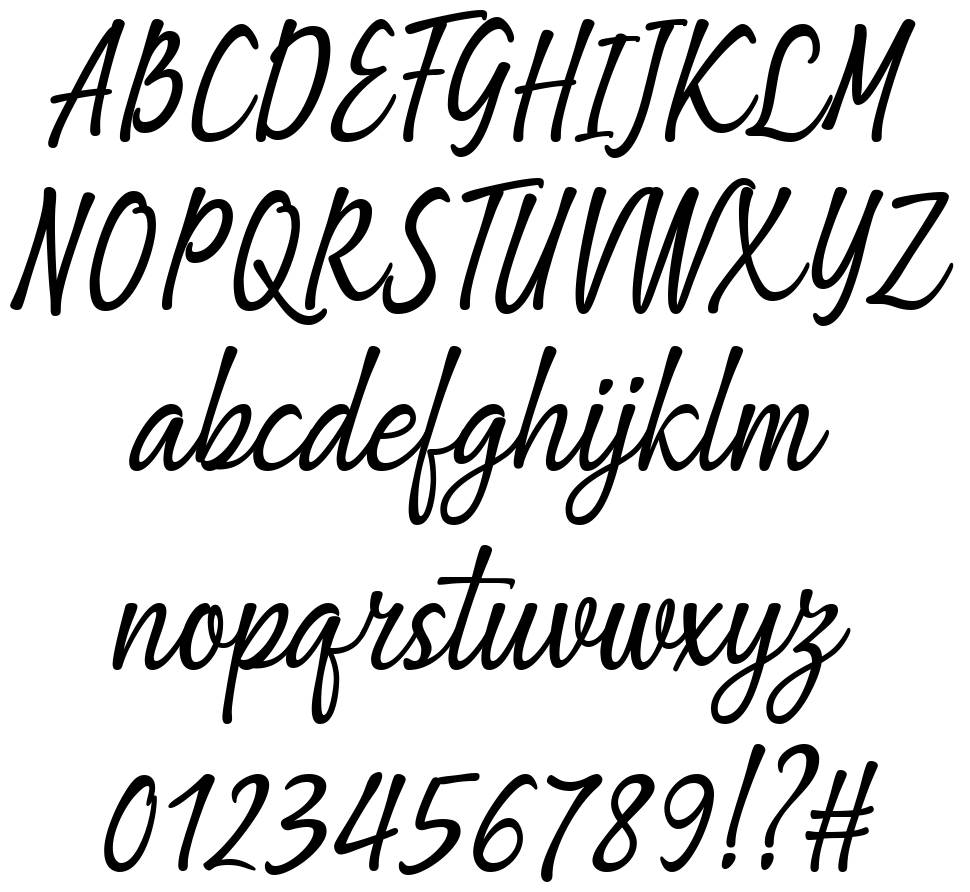 Being Love font