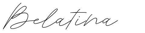 Belatina font