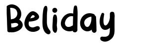 Beliday font