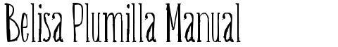 Belisa Plumilla Manual