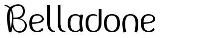 Belladone font