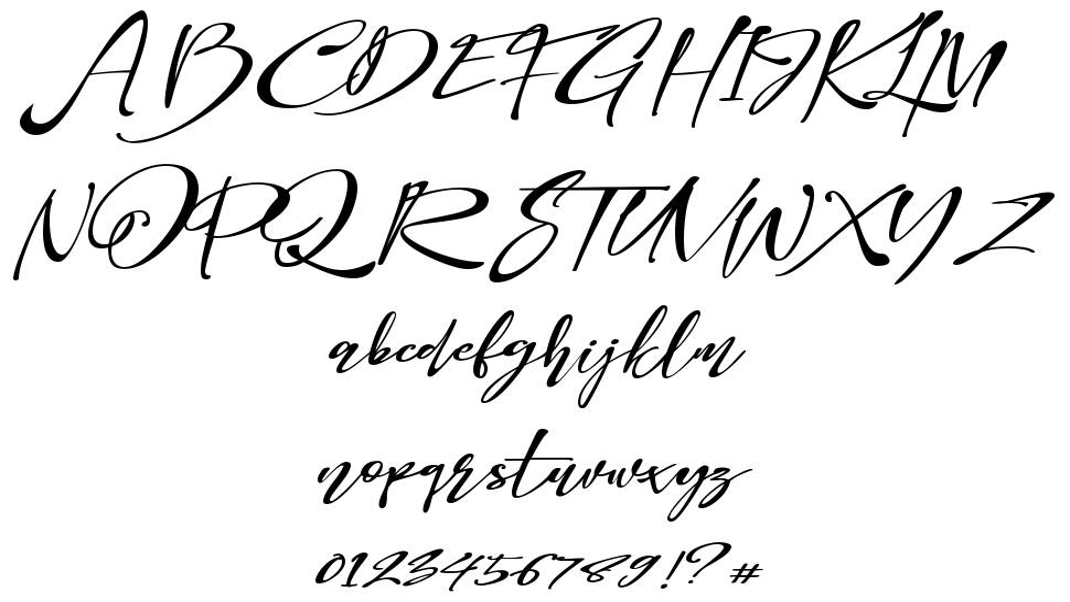 Bellome font