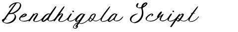 Bendhigola Script
