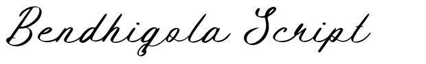 Bendhigola Script フォント