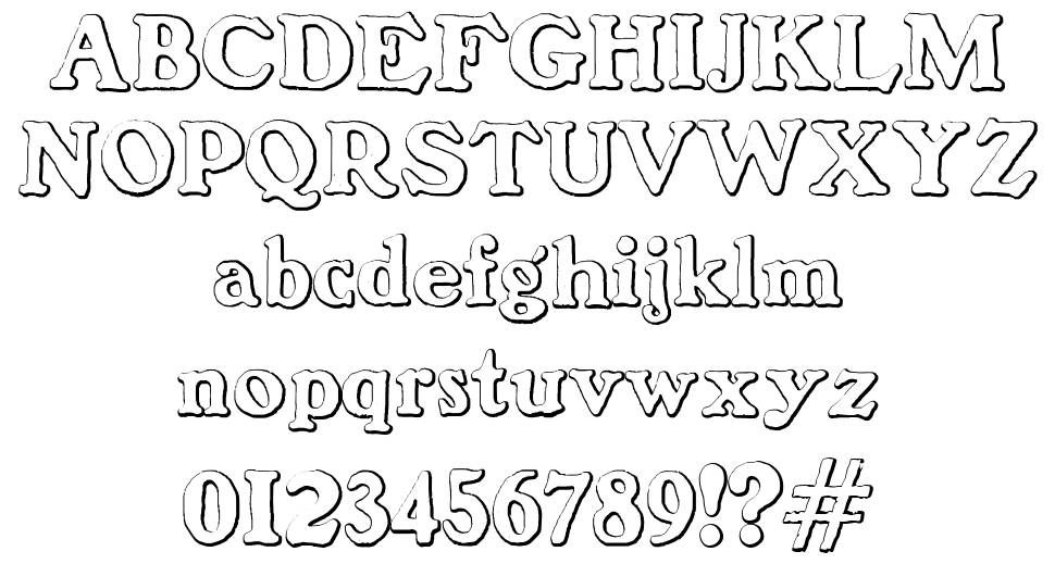 Benjamin Franklin Beveled font