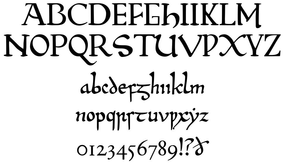 Beowulf 1 font