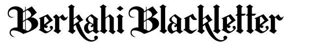 Berkahi Blackletter písmo
