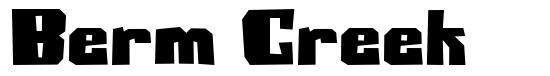 Berm Creek font