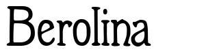 Berolina font