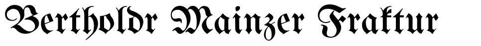 Bertholdr Mainzer Fraktur font
