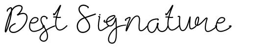 Best Signature