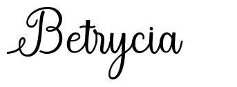 Betrycia font