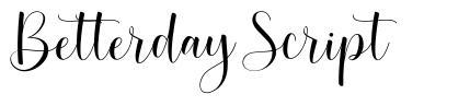 Betterday Script font