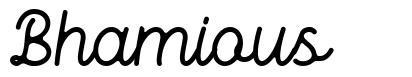 Bhamious font