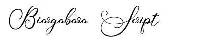 Biargabara Script font