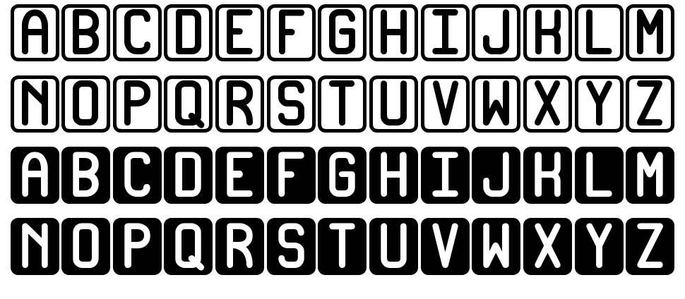 Bicolors ST font