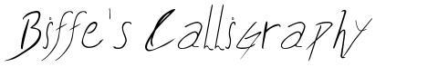 Biffe's Calligraphy