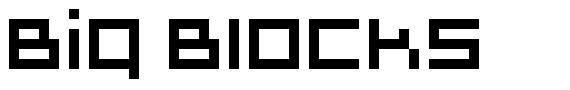 Big Blocks font