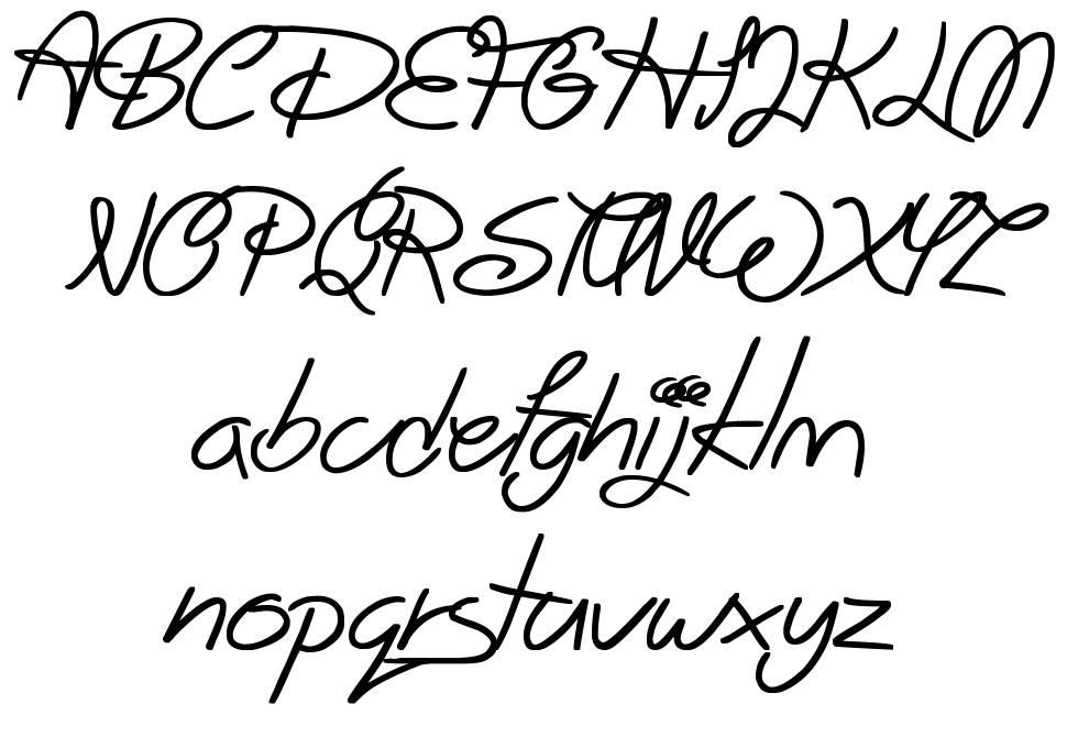 Big Winks font
