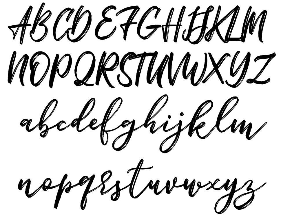 Bigbroade font