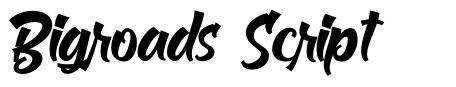 Bigroads Script fonte