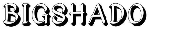Bigshado font