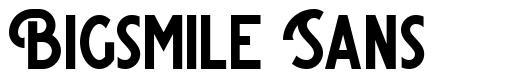 Bigsmile Sans