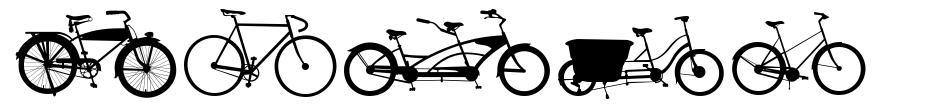 Bikes font