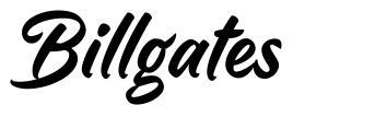 Billgates font