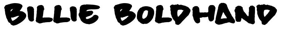 Billie BoldHand шрифт