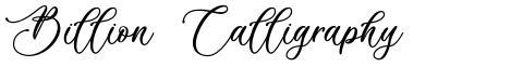 Billion Calligraphy
