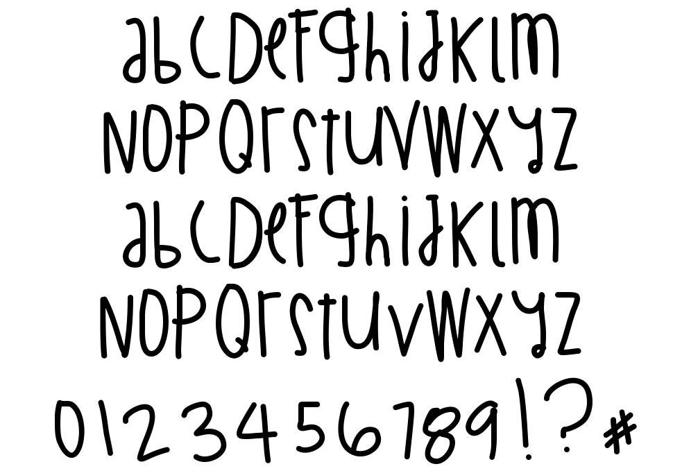 Billion Million I Wish font