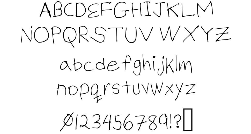 Billy's Hand Thin font